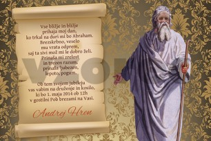 Vabilo za abrahama in druge obletnice 2