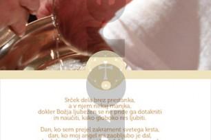 Zahvala ob krstu 18