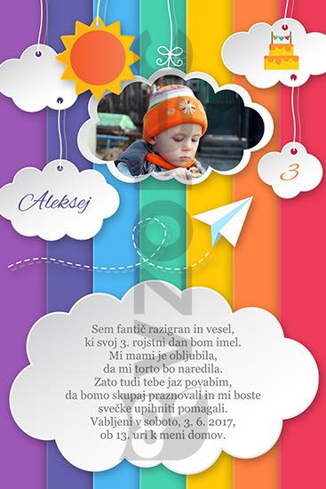 Otroško rojstnodnevno vabilo